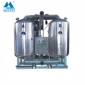 Low dew-point heated desiccant air dryer with air blower for electrion factory(with air consumption)