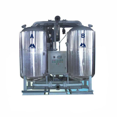 Heated  Desiccant Compressed Air Dryer with electric fan blower