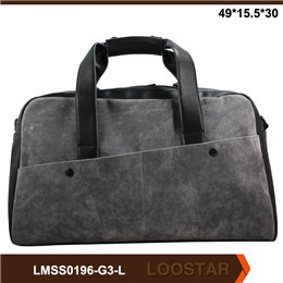 2016  Best Sell Tourist Leather Big  Luggage Bag Holdall Travel Bag for Mens
