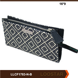 2016 New Style Women Wallet  Canvas Zipper Wallet Fashion checked handbags  Small Coin Purse for Sale