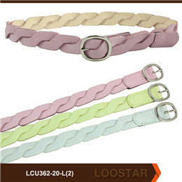 2016 New Style Children braided belt  PU Leather  belts  For Teens