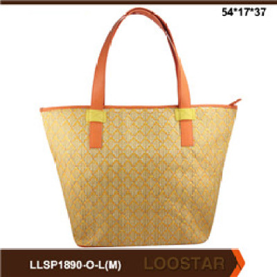 Good Quality Fashion  Stripe Canvas Women Bags Beach Tote Bag ladies shopping bags