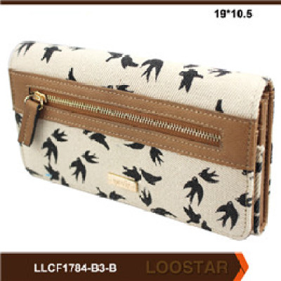 2016 Women Wallet  Canvas and PU Leather Zipper Wallet Fashion  handbags  Small Coin Purse
