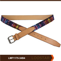 Wholesale Men Emboss Belts Good Quality PU  Leather Belts
