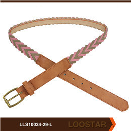 2016 New Style Women  Leather Weave Belts  braided Belts PU Leather Belts For Sale
