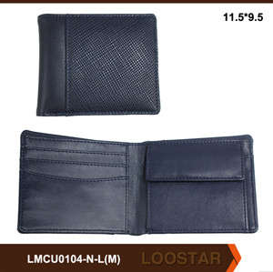 2016 Good Quality Durable Custom Hand Made Fashion Men PU Leather Wallet for Sale Wholesale Manufacturer
