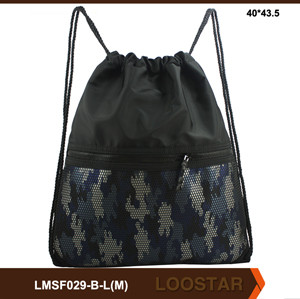 Camouflage Nylon Drawstring Men Backpack Bag New Bulk Draw String Shopping Bag for Package