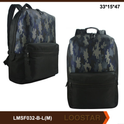 2017 hot selling School Bag Camouflage Backpack for Men