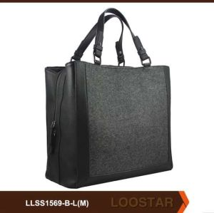 Black Woman Handbag for Wholesale PU Bag Factory
