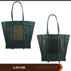 Green Lady Handbag Shopper Wholesale Woman PU Bag Factory