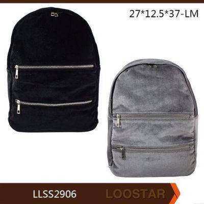 2016 a&w velvet backpack customised woman bag popular woman bag