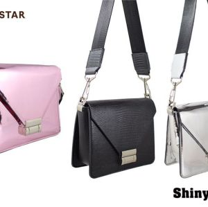 metallic woman crossbody bag small lady bag hot selling low moq