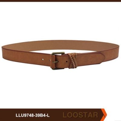 metal loop detail best selling lady belt customised woman wholesale belt