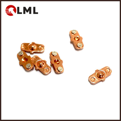 OEM Copper Electronic Communication 2 Point Electrical Silver Contact Assembly