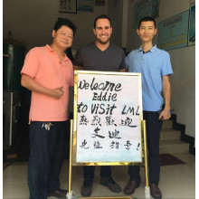 American Friend Visiting Our Factory