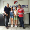 America customer Mr James visiting our factory to discuss and solve the technical problems