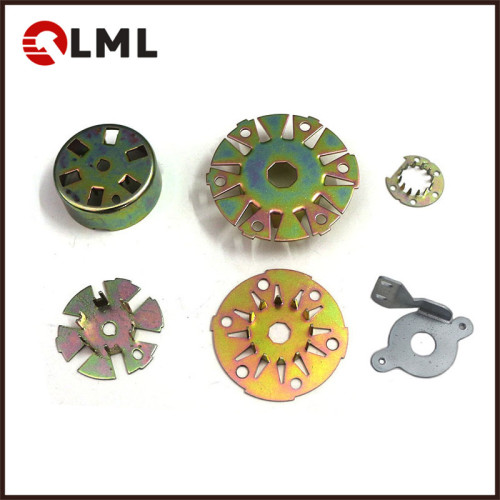 Custom Color Zinc Plating Sheet Metal Stamping Electric Motor Spare Parts