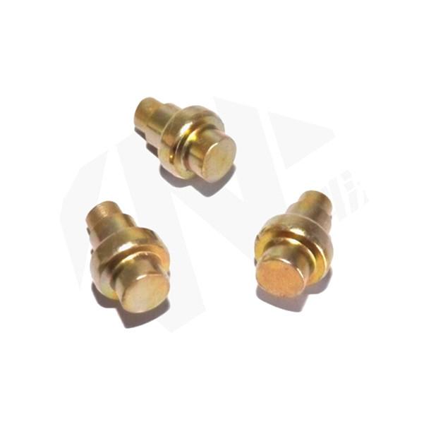 brass stepped rivets