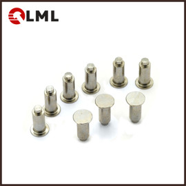 OEM Nickel Plated Solid Steel Flat Head Shoulder Rivets In Stock