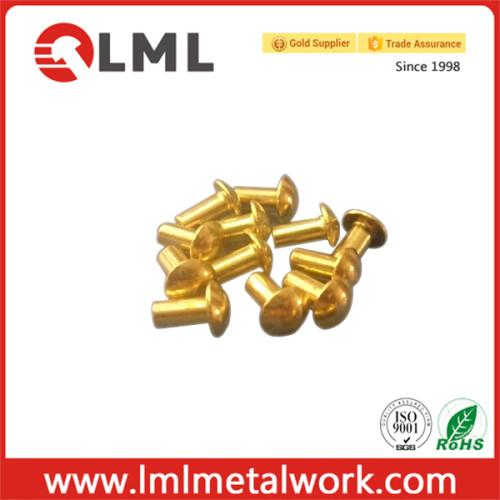 Custom Made Round Head Solid Brass Rivets With Different Kinds