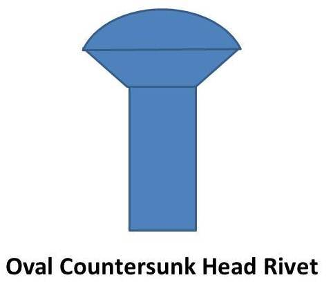 oval countersunk head rivet