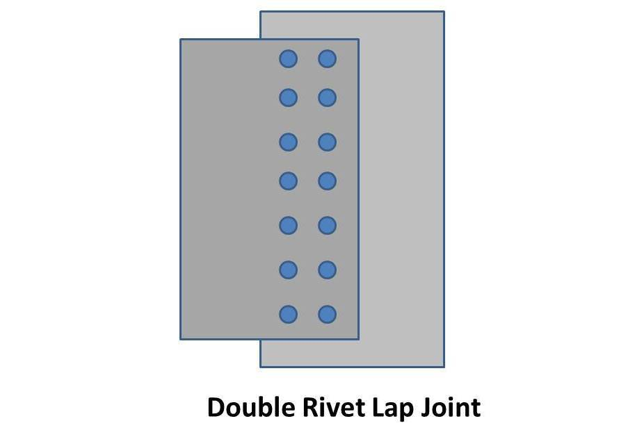 double rivet lap joint