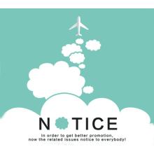 Account change notice