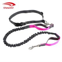 Dual-Handle Reflective Stitching Attach Training Pouch Bungee Leash