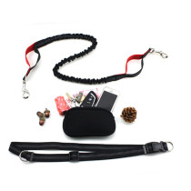 Durable Nylon Reflective Bungee Hands Free Dog Leash for Pet