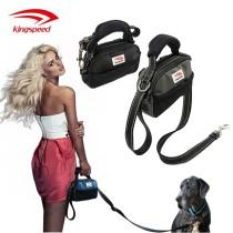 Durable Nylon Adjustable Dog Leash with Accessory Pocket