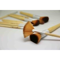 Wholesale private label champagne gold beauty needs makeup brush set