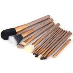 Wholesale Rose Gold Makeup Brush Set 12pcs ,Custom Logo 12 pcs Cosmetic Brush ,12 pcs Private Label Makeup Brush Set