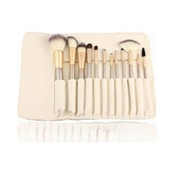 12pcs Eco-Friendly Make up Brushes/Bamboo Makeup Brush Set/Custom Makeup Brush Set