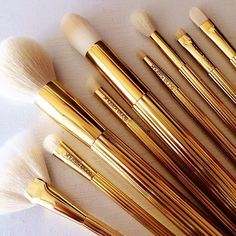 Synthetic hair 12pcs professional makeup brushes wooden naked 3 brushes