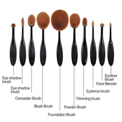 Fashionable 9Pcs New Style Golf Makeup Brush Set Oval Powder Foundation Brush Cosmetic Makeup Brush