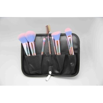 bamboo handle makeup brush with 2 tone color hair
