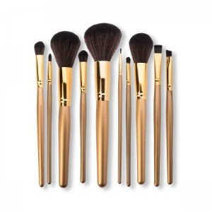 10pcs Foundation Eyeshadow brush Tools Makeup Brushes Set offered by cheap bamboo makeup brushes factory