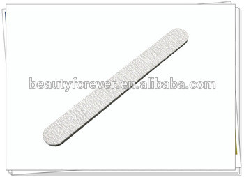 Straight shape nail file, disposable nail file