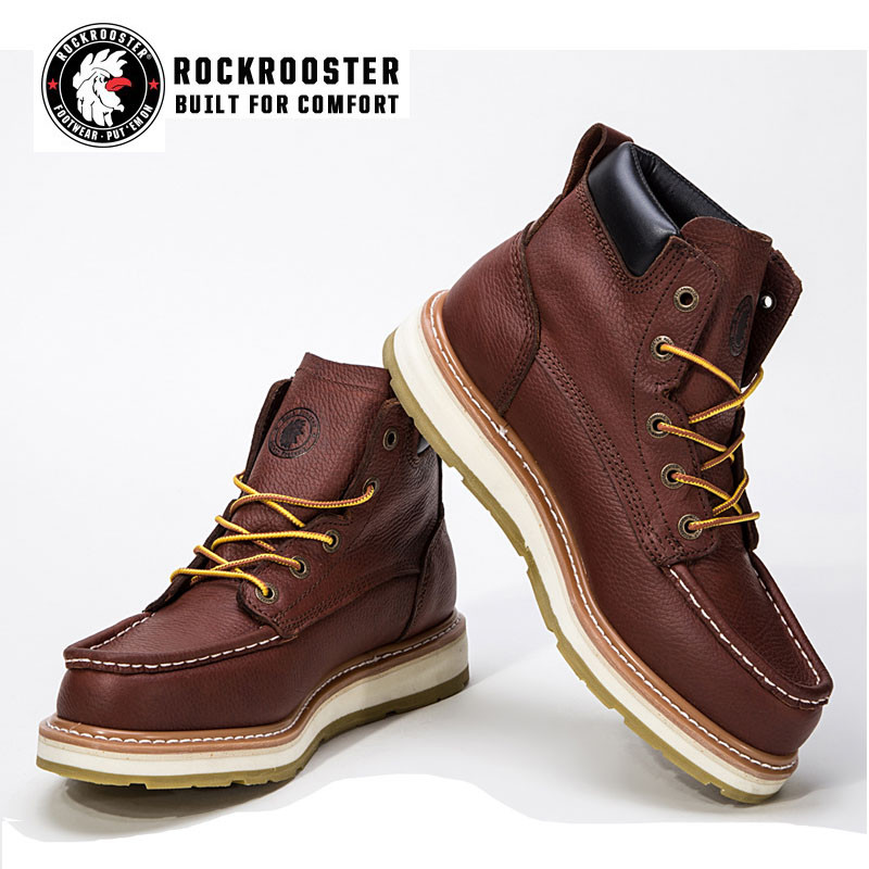 f21f1c8ac79 WALKER---ROCKROOSTER AP SERIES MEN'S WORK BOOTS with thick bottom ...