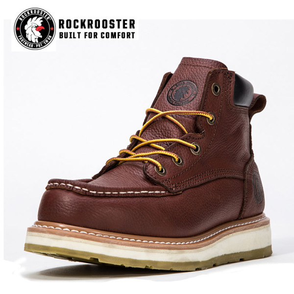 WALKER---ROCKROOSTER AP SERIES MEN'S WORK BOOTS with thick bottom