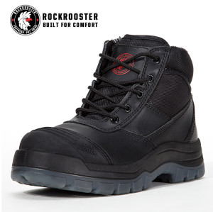 CRISSON---ROCKROOSTER AK Series Men's work boots Zip sided water proof boots with steel toe cap