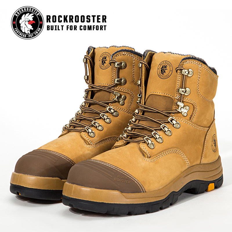 195e80cd105d FORT---ROCKROOSTER AK Series Men s work boots Lace up ankle boots with steel  toe cap