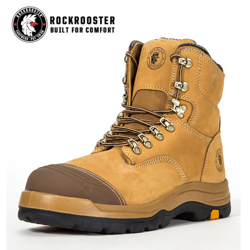 FORT---ROCKROOSTER AK Series Men's work boots Lace up ankle boots with steel toe cap