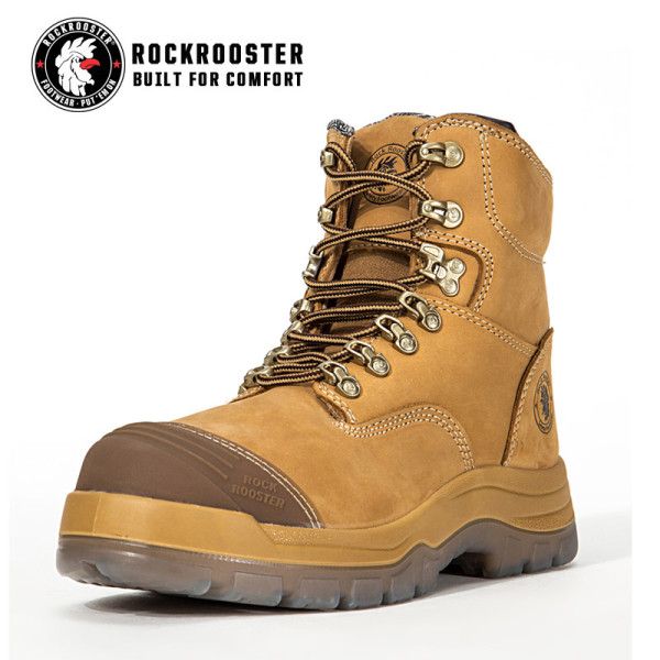 KIMBERLY---ROCKROOSTER AK Series Men's work boots Zip sided boots with steel toe cap
