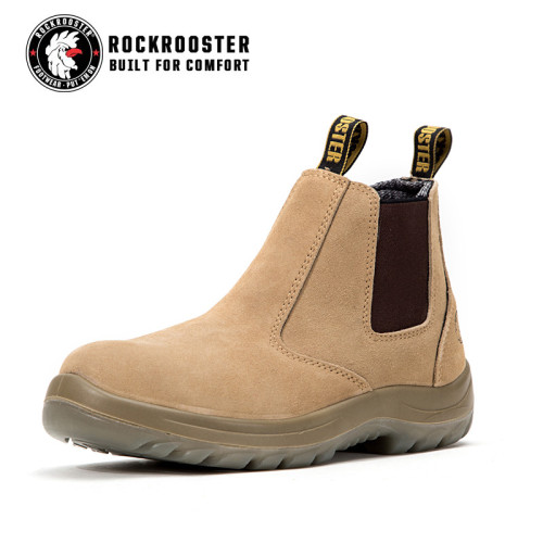 ABSA---ROCKROOSTER AC Series Men's work boots Ankle height elastic sided boots with steel toe cap