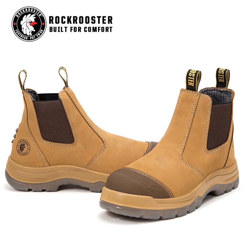 c2cc9a27848 GAMMON---ROCKROOSTER AK Series Men's work boots Ankle height elastic ...