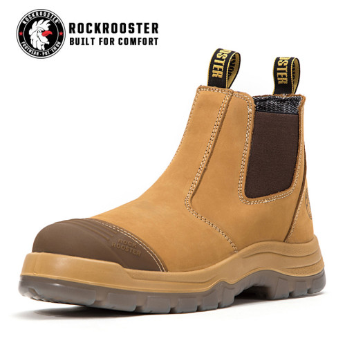 9431c5d15f22 GAMMON---ROCKROOSTER AK Series Men s work boots Ankle height elastic sided  boots with steel toe cap