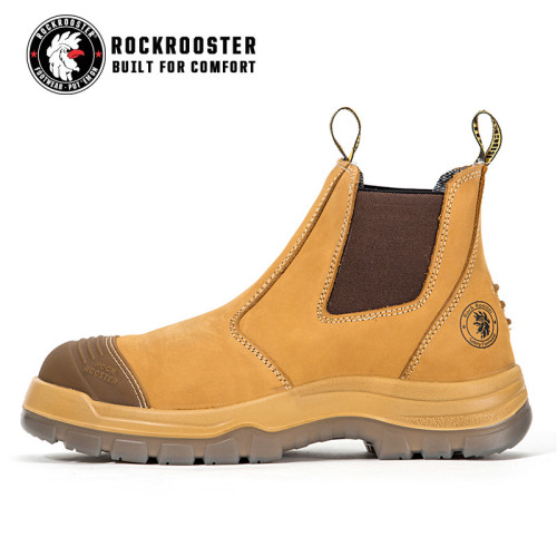 GAMMON---ROCKROOSTER AK Series Men's work boots Ankle height elastic sided boots with steel toe cap