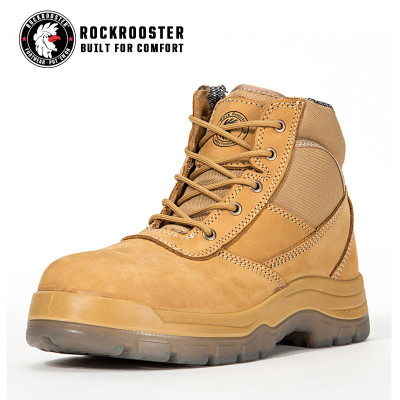 CORTEZ---ROCKROOSTER AK Series Men's work boots Zip sided water proof boots with steel toe cap