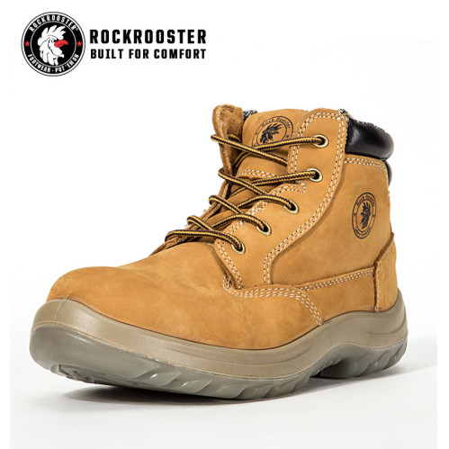 8865a5d677fb CABALLO---ROCKROOSTER AC Series Men s work boots Zip sided Ankle boots with steel  toe cap